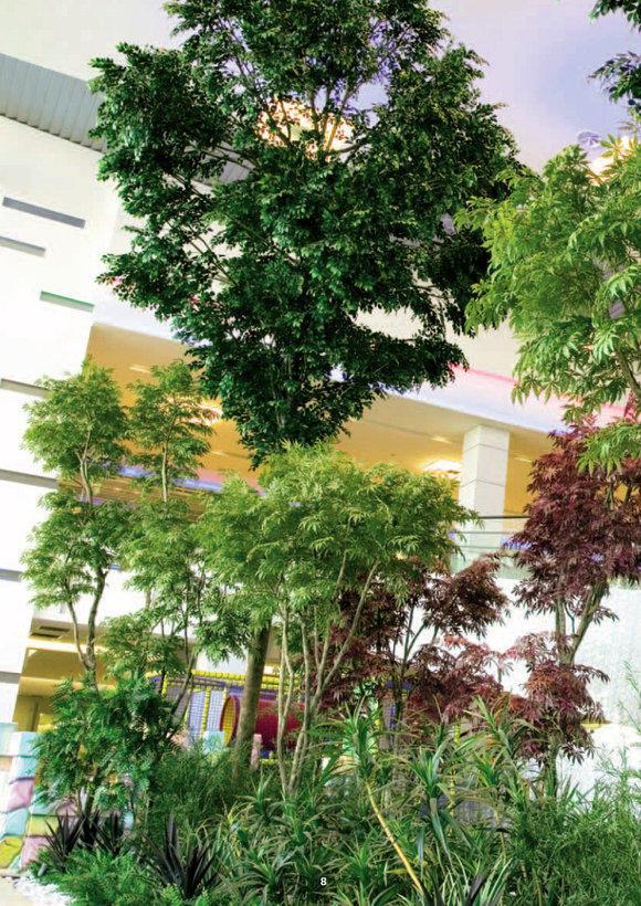 Umělé stromy interiér